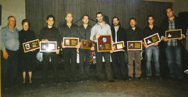 """Παρουσίαση απονομής Χρυσού δίσκου από το περιοδικό """"Κοντυλιές"""" το 2010"""